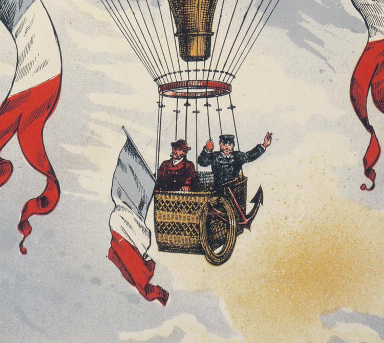 Reklamposter – Luftballongen H. Lachambre – 1880-tal