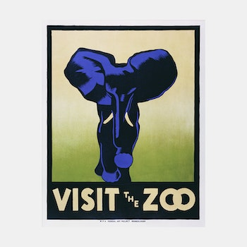 Poster – Visit the Zoo – 1937