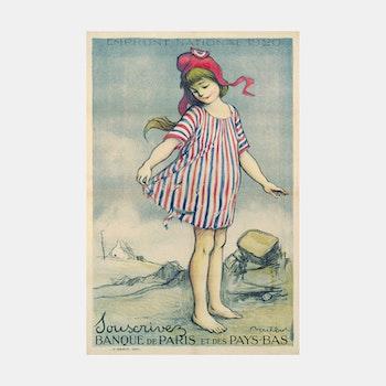 Reklambild – Banque de Paris – 1920
