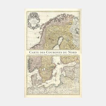 Karta – Norden – 1708