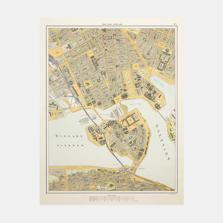 "Karta – ""Bladet Gustaf Adolfs torg"" – 1899"