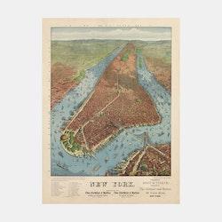 "Bildkonst – New York ""bird's-eye-view"" – 1879"