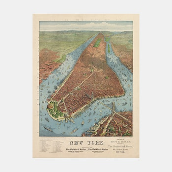 "Bildkonst – New York ""bird's-eye-view"" – 1879"