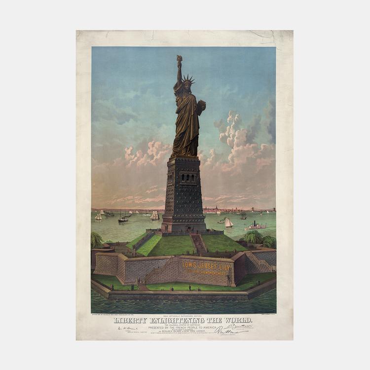 Poster – New York, Frihetsgudinnan – 1883