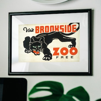 Poster – Brookside Zoo – 1937