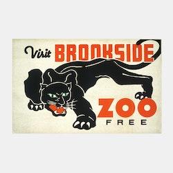 Poster – Brookside Zoo – 1937