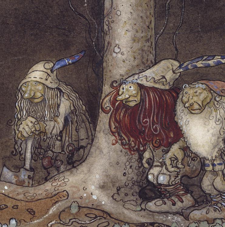 Konst – Broder S:t Martin och de tre trollen – 1913
