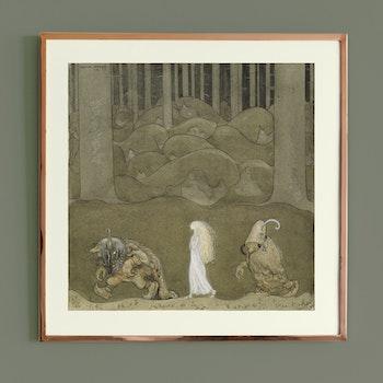Konst – John Bauer, Prinsessan och trollen – 1913