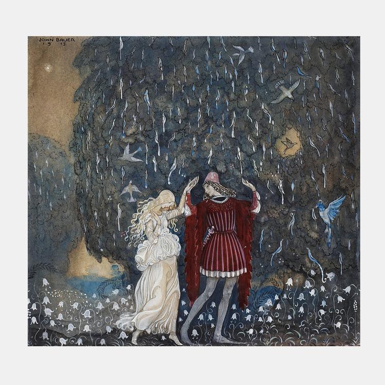 Konst – John Bauer, Lena och riddaren dansa – 1915