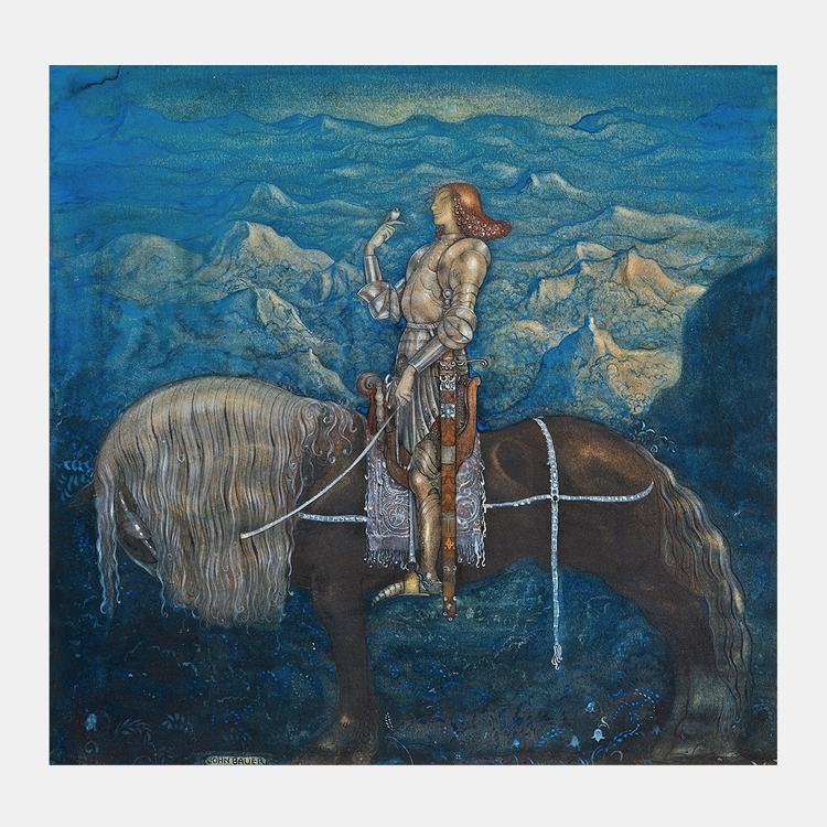 Konst – John Bauer, En riddare red fram – 1915