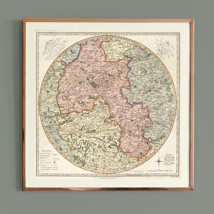 Karta – Oxford – 1805