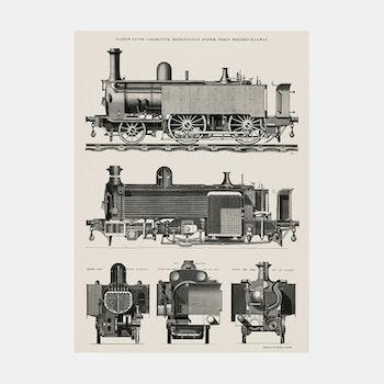 Poster – Lokomotiv – 1869
