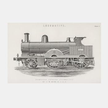 Poster – Lokomotiv – 1891