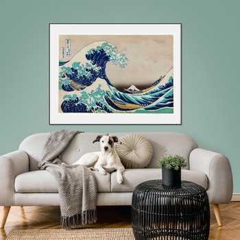 Poster – Japanskt, The Great Wave off Kanagawa – 1829