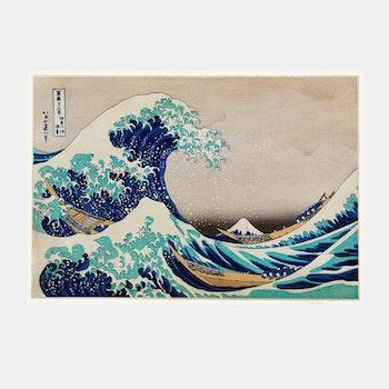 Poster – Japanskt, The Great Wave off Kanagawa – 1829