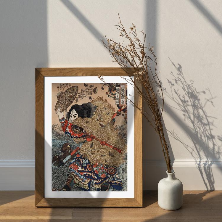 Poster – Japanskt, Samuraj – ca 1800