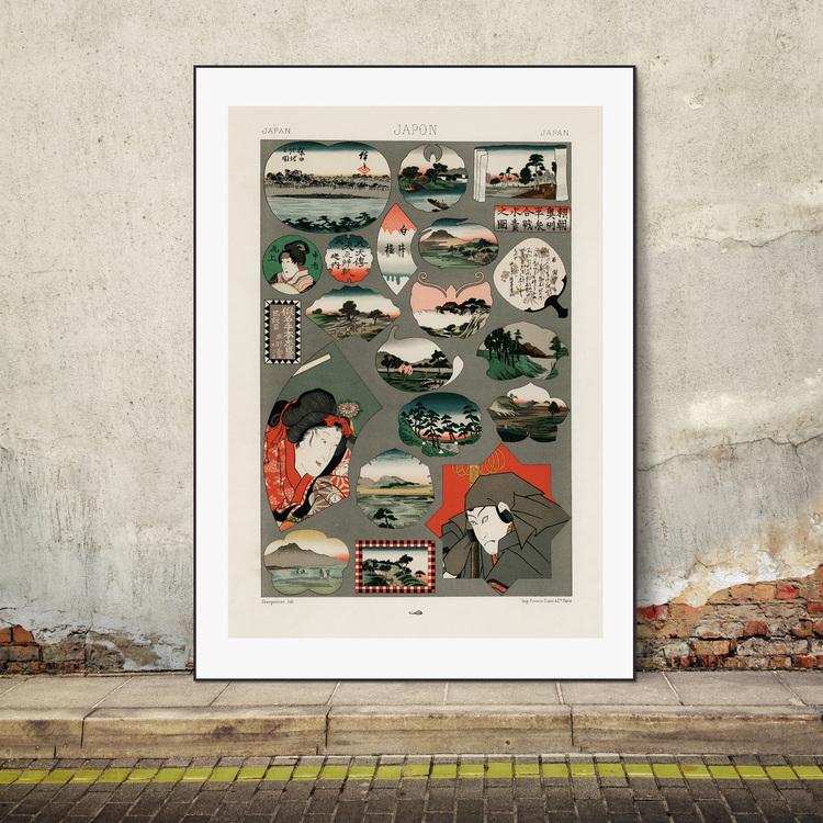 Poster – Japanskt mönster – 1888