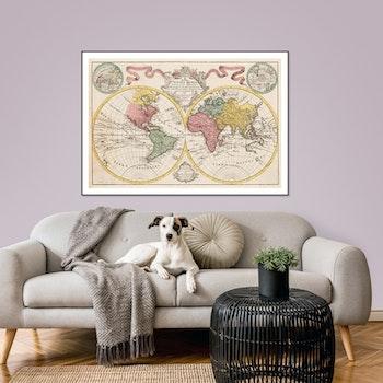 "Karta – Världskarta ""Totius Mundi"" – 1775"