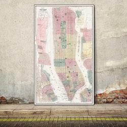 Karta – New York and Vicinity – 1869