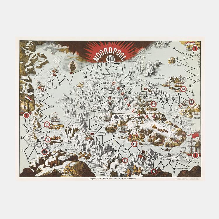 Karta/poster – Nordpolen – 1800-tal