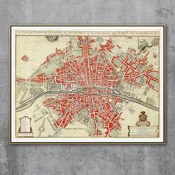 Karta – Paris – 1700-tal