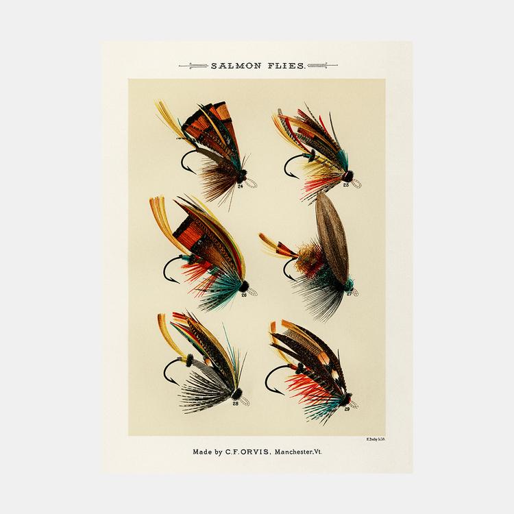 Salmon Flies – fiskedrag – 1870
