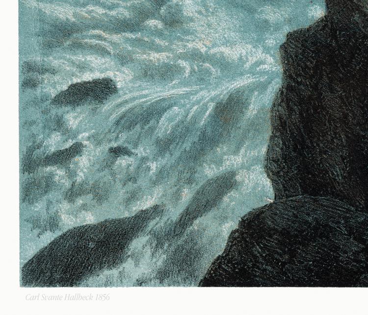 "Njommelsaska ""Harsprånget"" – Lappland – Carl Svante Hallbeck 1856"