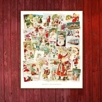 Julmotiv – Klassiska julkort i kollage – SpoilArt