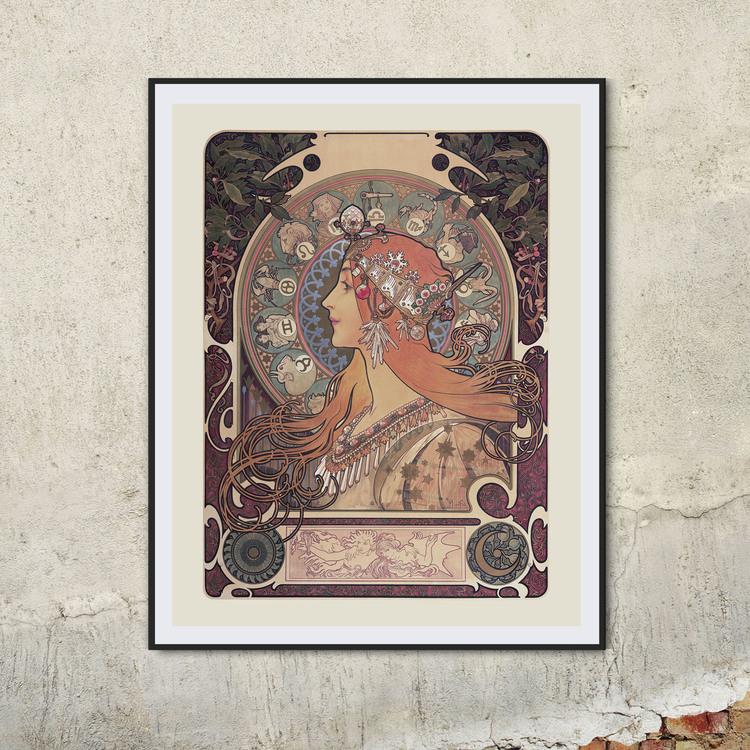 Poster – Alphonse Mucha, Zodiac