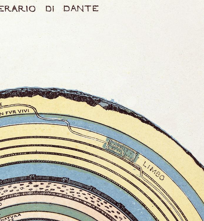 Bild/karta – Map of Hell – 1855