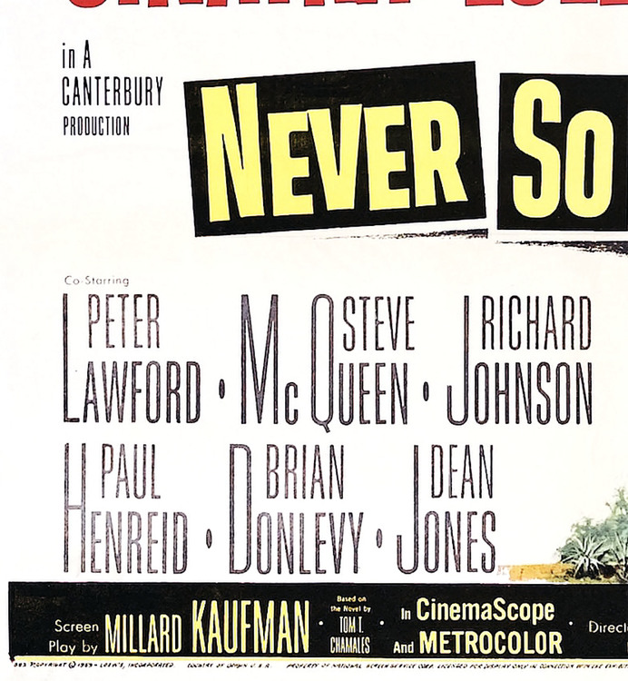 "Filmposter Sinatra, ""Never So Few"""