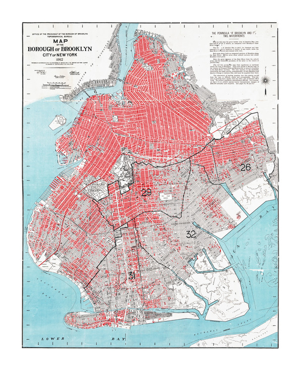 Map of the Borough of Brooklyn, New York – 1912