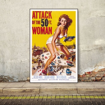 Attack of the 50 ft. Woman – klassisk filmposter
