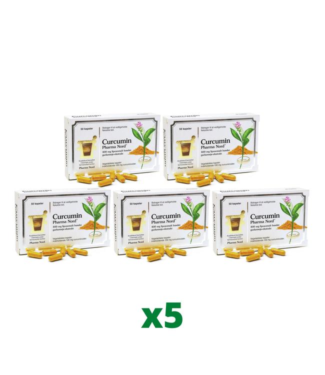 5 x Pharma Nord Curcumin 50 kapslar
