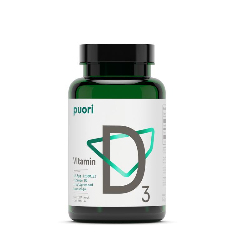 Puori D3 D-vitamin, 120 kapslar