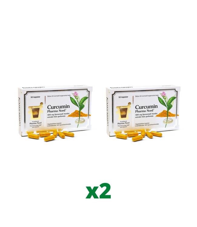 2 x Pharma Nord Curcumin, 50 kapslar