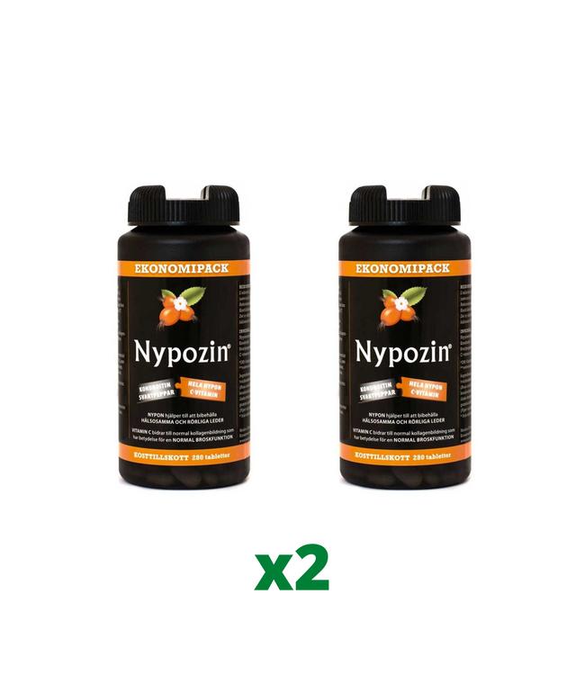 2 x Nypozin, 280 tabletter