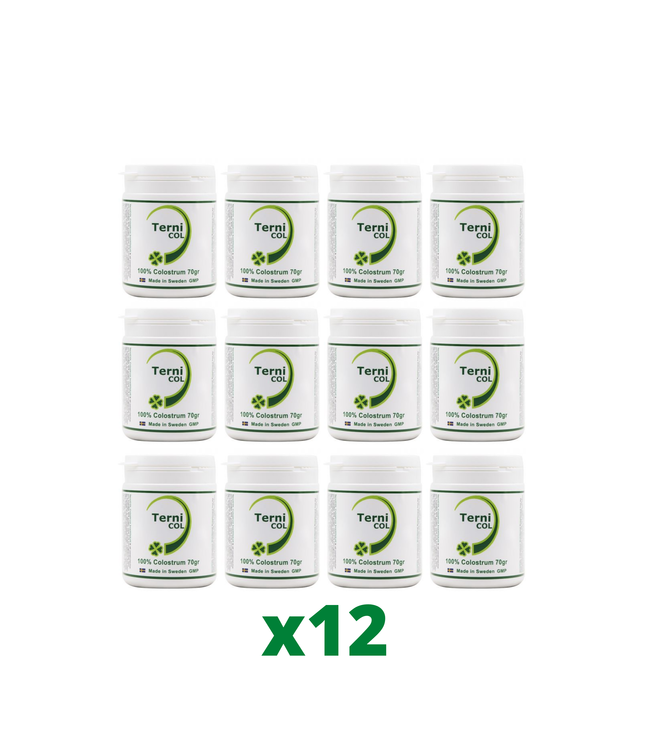 12-Pack TerniCOL 100% Colostrum Pulver, 70g