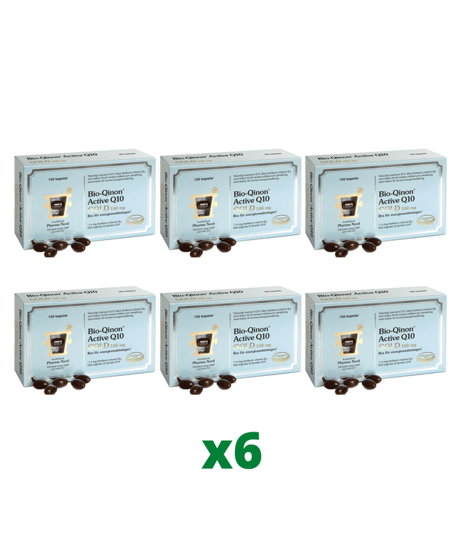 6 x Pharma Nord Bio-Qinon Q10 Gold 100mg, 150 kapslar