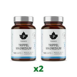 2 x Trippel Magnesium, 120 kapslar