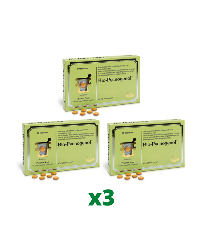 3 x Bio-Pycnogenol, 90 tabletter