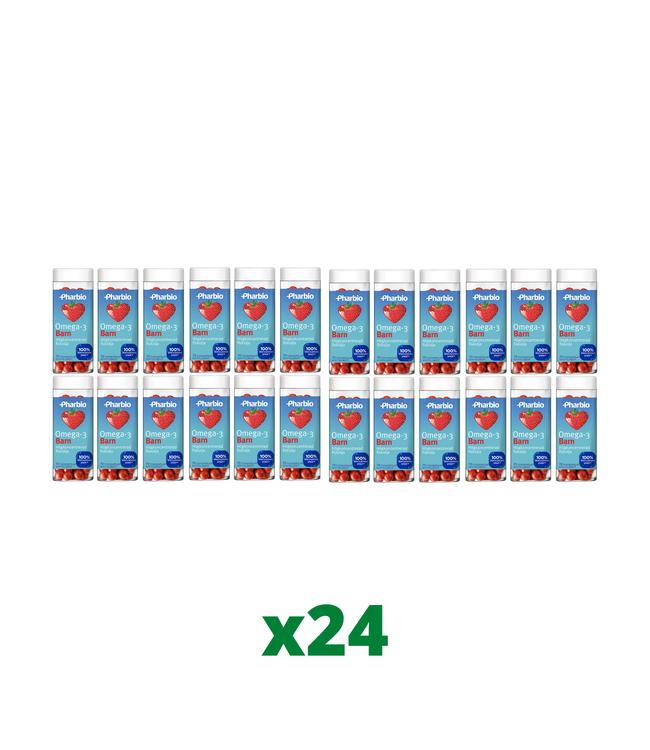 24 x Pharbio Omega-3 Barn, 70 kapslar