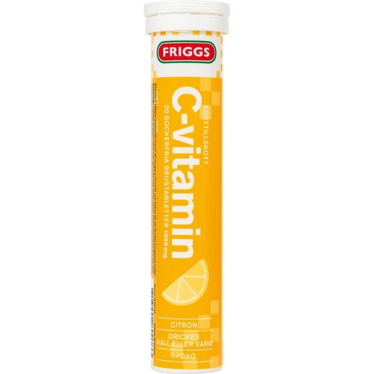 Friggs C-vitamin Citron 20 brustabletter