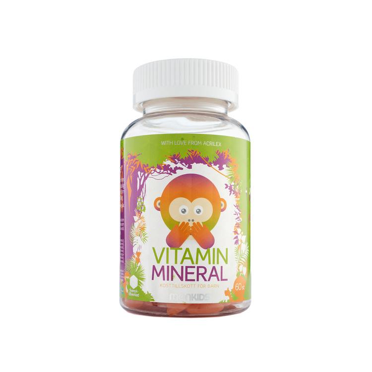 Monkids Vitamin + Mineral, 60 tuggtabletter