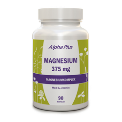 Alpha Plus Magnesium 375mg, 90 kapslar