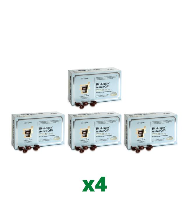 4 x Pharma Nord Bio-Qinon Q10 Gold 100mg, 150 kapslar