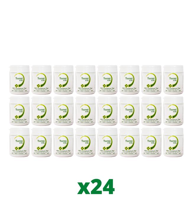 24-Pack TerniCOL 100% Colostrum Pulver, 70g