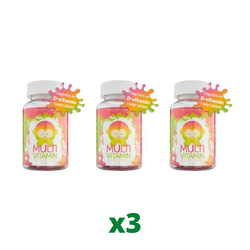 3 x Monkids Multivitamin, 60 tabletter
