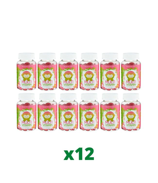 12 x Monkids Multivitamin 60 tuggtabletter