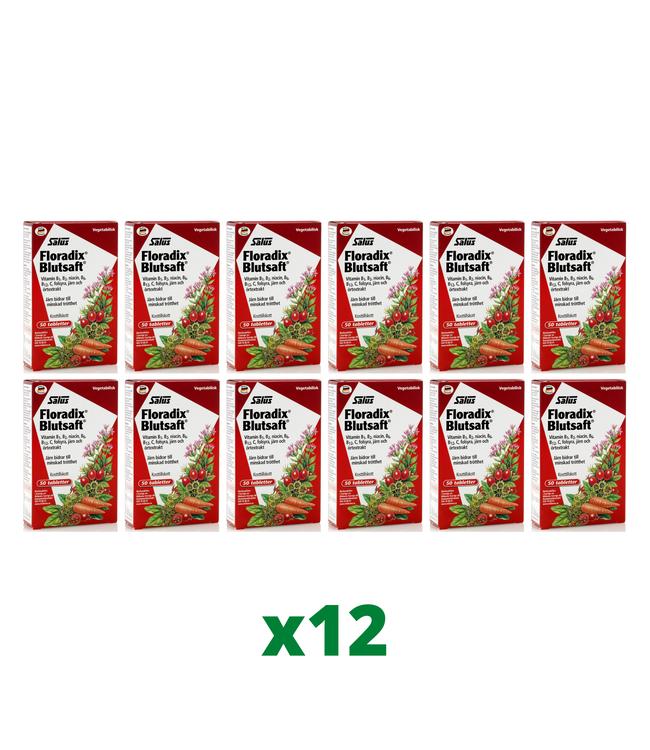 12 x Floradix Blutsaft, 50 tabletter